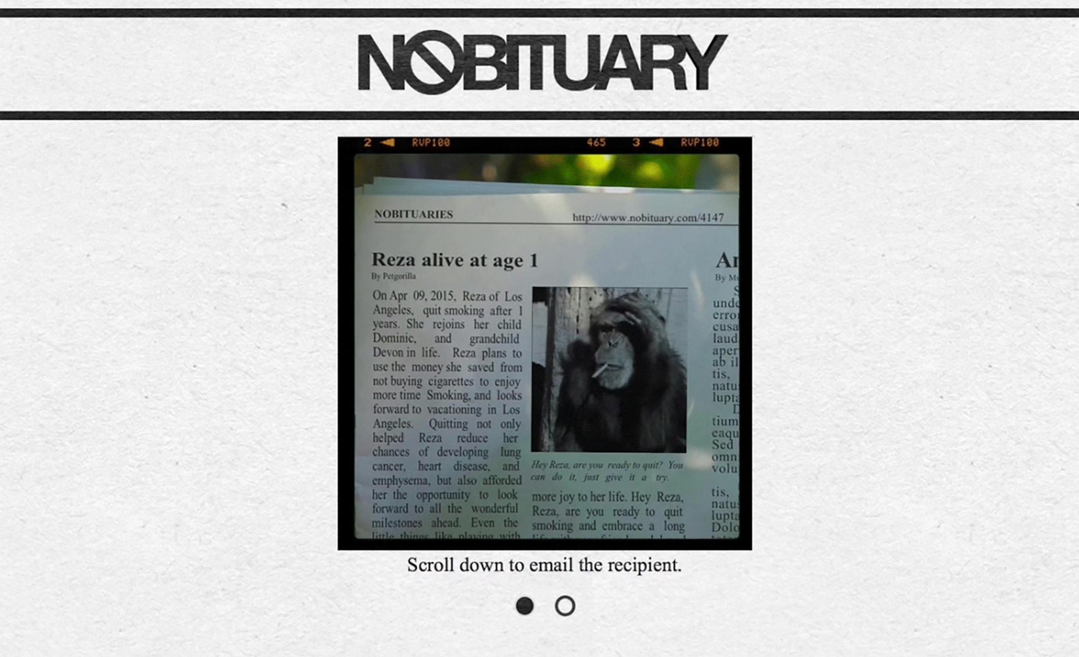 Nobituary – Anti-Smoking Campaign